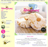 Front page of www.honeybuns.co.uk