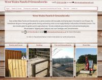 Screenshot of the front page of West Wales Panels and Groundworks